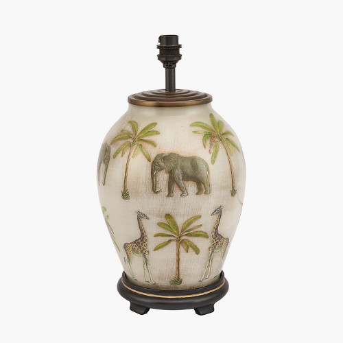 Safari Medium Glass Table Lamp