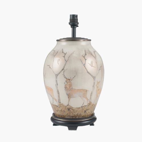 Deer Medium Glass Table Lamp