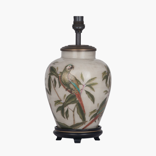 Parrot Small Glass Table Lamp