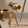 Hereford Gold and Natural Tripod Table Lamp