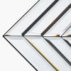 Mirrored Glass Art Deco Rectangle Wall Mirror