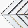 Mirrored Glass Art Deco Retangle Floor Mirror