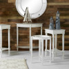 Heritage Elizabeth White Pine Wood Accent Table with Shelf K/D